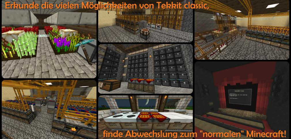 TekkRiver Server-Slider Abwechslung duch Tekkit classic